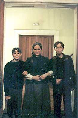 Wendy Barrie-Wilson as Mrs. Stockmann with her two boys.